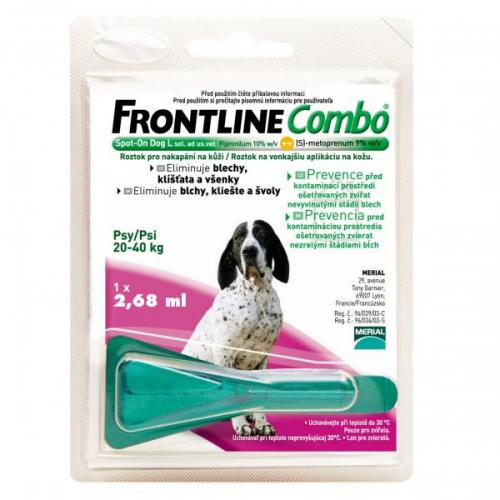 FRONTLINE Combo spot on dog L (pro psy 20-40kg)  1x 2.68ml